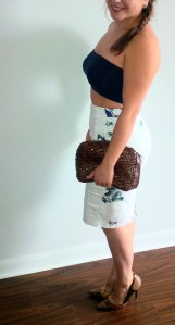 Summer outfit: The Polarizing Crop Top & floral skirt @splattershare