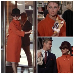 8 ways Breakfast at Tiffany's is exactly like today @splattershare -colored peacoat collage