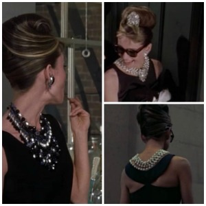8 ways Breakfast at Tiffany's is exactly like today @splattershare -statement necklace