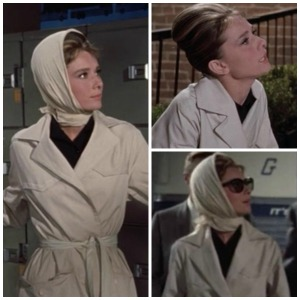 8 ways Breakfast at Tiffany's is exactly like today @splattershare - trench coats collage