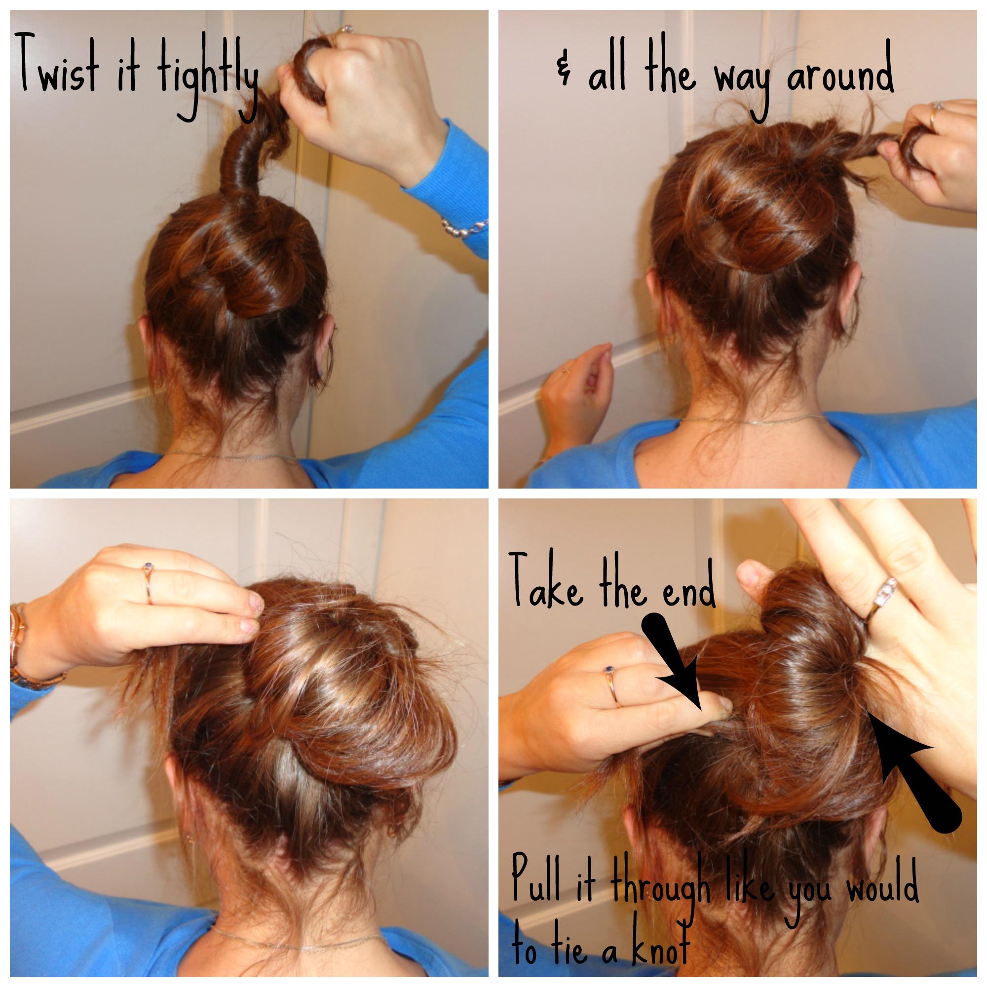 Quick Little Bun For Long Hair Splattershare