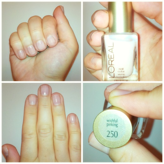 L'oreal nailpolish wishful pinking @splattershare
