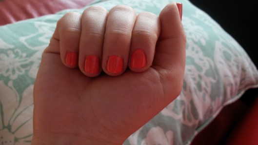 tangerine crush: L'Oreal nail polish @splattershare