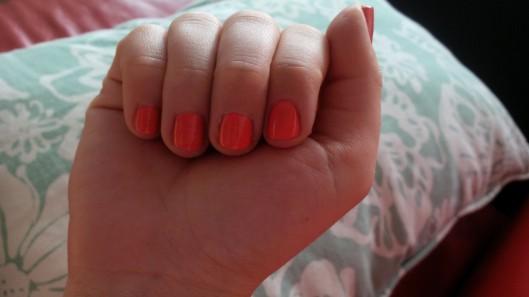 tangerine crush: L'Oreal nail polish @splattershare